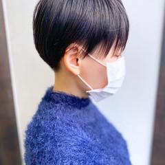 ナチュラル 簡単スタイリング ベリーショート 耳かけ ヘアスタイルや髪型の写真・画像