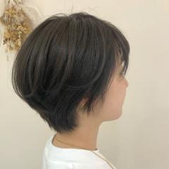 ショート 大人ショート ハイライト ハンサムショート ヘアスタイルや髪型の写真・画像