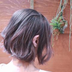 ハイライト グラデーションカラー ボブ バレイヤージュ ヘアスタイルや髪型の写真・画像