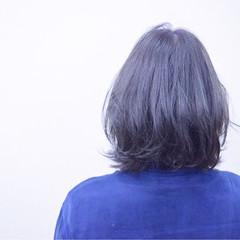 ウェットヘア ボブ モード アッシュ ヘアスタイルや髪型の写真・画像