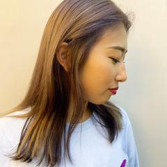 パープルカラー ハイトーンカラー ロング ナチュラル ヘアスタイルや髪型の写真・画像