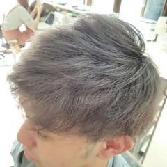 ショート ストリート ハイライト ボーイッシュ ヘアスタイルや髪型の写真・画像