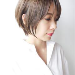 コンサバ モテ髪 ゆるふわ ショートボブ ヘアスタイルや髪型の写真・画像