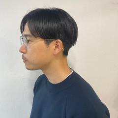 メンズパーマ センターパート メンズヘア ショート ヘアスタイルや髪型の写真・画像