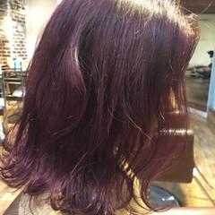 ミディアム ラベンダーアッシュ 外国人風 ストリート ヘアスタイルや髪型の写真・画像