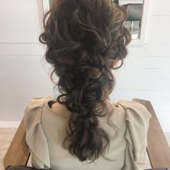 フェミニン ハーフアップ ゆるふわ ヘアアレンジ ヘアスタイルや髪型の写真・画像