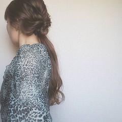 ローポニーテール ヘアアレンジ ポニーテール 大人女子 ヘアスタイルや髪型の写真・画像