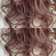 ロング ピンク ハイライト モード ヘアスタイルや髪型の写真・画像