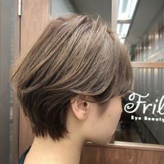 ショートヘア ショートボブ ショート シアーベージュ ヘアスタイルや髪型の写真・画像