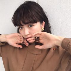 女子会 ヘアアレンジ ウェーブ ミディアム ヘアスタイルや髪型の写真・画像