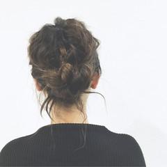 ショート ロープ編み 簡単ヘアアレンジ ヘアアレンジ ヘアスタイルや髪型の写真・画像