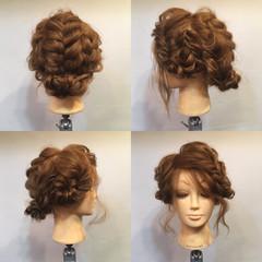 無造作 フィッシュボーン セミロング パーティ ヘアスタイルや髪型の写真・画像