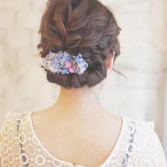 ヘアアレンジ 大人かわいい 結婚式 ショート ヘアスタイルや髪型の写真・画像