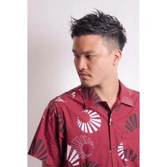 刈り上げ ベリーショート ナチュラル 黒髪 ヘアスタイルや髪型の写真・画像