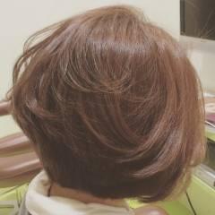 ナチュラル ショート フェミニン グラデーションカラー ヘアスタイルや髪型の写真・画像
