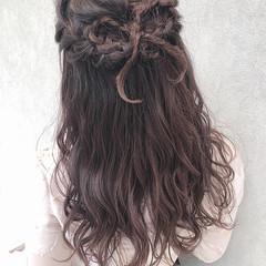 デート セミロング 成人式 簡単ヘアアレンジ ヘアスタイルや髪型の写真・画像