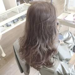 ロング 透明感 グラデーションカラー 外国人風 ヘアスタイルや髪型の写真・画像