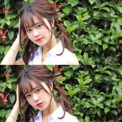 フェミニン 梅雨 簡単ヘアアレンジ ヘアアレンジ ヘアスタイルや髪型の写真・画像