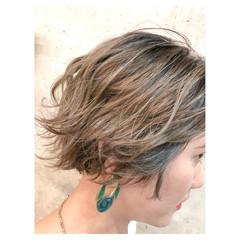 ハイライト ブリーチ 女子力 透明感 ヘアスタイルや髪型の写真・画像