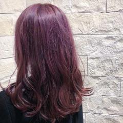 ラベンダーカラー ラベンダー ラベンダーピンク ツヤ髪 ヘアスタイルや髪型の写真・画像