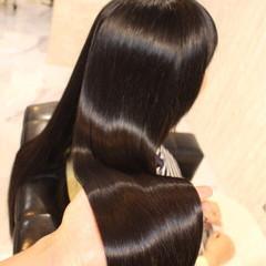 暗髪 黒髪 透明感 ナチュラル ヘアスタイルや髪型の写真・画像