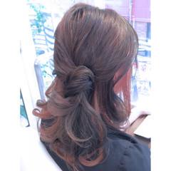 インナーカラー ストリート ショート ヘアアレンジ ヘアスタイルや髪型の写真・画像