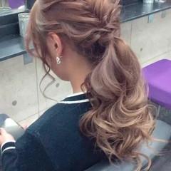 結婚式 ヘアセット 卒業式 エレガント ヘアスタイルや髪型の写真・画像