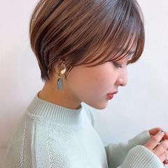 ナチュラル 銀座美容室 かわいい ショート ヘアスタイルや髪型の写真・画像