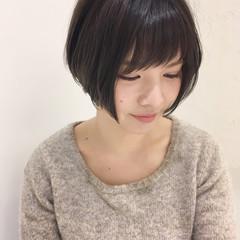 ラフ 小顔 リラックス 似合わせ ヘアスタイルや髪型の写真・画像