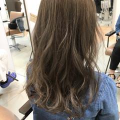 ロング 外国人風 アッシュ ガーリー ヘアスタイルや髪型の写真・画像