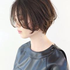 上品 大人女子 グレージュ ボブ ヘアスタイルや髪型の写真・画像