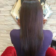 ストレート ロング サラサラ 艶髪 ヘアスタイルや髪型の写真・画像