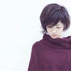 暗髪 ハイライト 大人かわいい 冬 ヘアスタイルや髪型の写真・画像