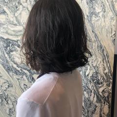ナチュラル ゆるふわパーマ ボブ パーマ ヘアスタイルや髪型の写真・画像