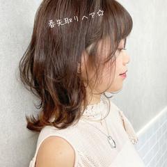 透明感カラー フェミニン レイヤーカット インナーカラー ヘアスタイルや髪型の写真・画像