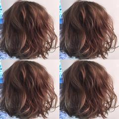 アッシュ ハイライト ボブ ストリート ヘアスタイルや髪型の写真・画像