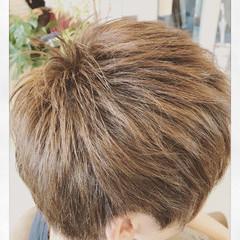 レイヤーカット モテ髪 ショート マッシュ ヘアスタイルや髪型の写真・画像
