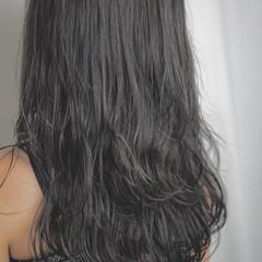 グレージュ ロング デート エレガント ヘアスタイルや髪型の写真・画像
