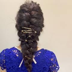 黒髪 ゆるふわ ヘアアレンジ ガーリー ヘアスタイルや髪型の写真・画像