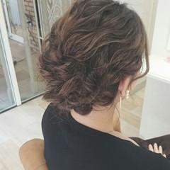ヘアアレンジ 波ウェーブ 大人かわいい ゆるふわ ヘアスタイルや髪型の写真・画像