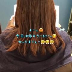 ナチュラル イルミナカラー 3Dカラー セミロング ヘアスタイルや髪型の写真・画像