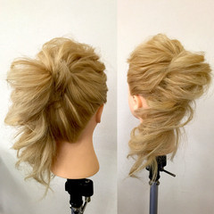 ゆるふわ ロング 簡単ヘアアレンジ 大人かわいい ヘアスタイルや髪型の写真・画像
