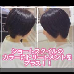 ナチュラル ベリーショート ショートボブ ショート ヘアスタイルや髪型の写真・画像