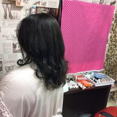 モード 外国人風カラー ラベンダーグレージュ グレージュ ヘアスタイルや髪型の写真・画像