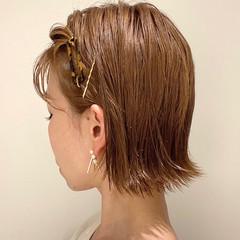 ミニボブ ボブ 簡単ヘアアレンジ 切りっぱなしボブ ヘアスタイルや髪型の写真・画像