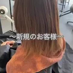 ナチュラル ブリーチカラー ハイライト 3Dハイライト ヘアスタイルや髪型の写真・画像
