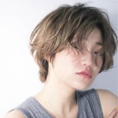 ショート アッシュ 外国人風カラー ストリート ヘアスタイルや髪型の写真・画像