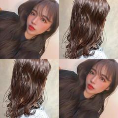 簡単ヘアアレンジ セミロング 韓国ヘア 韓国 ヘアスタイルや髪型の写真・画像