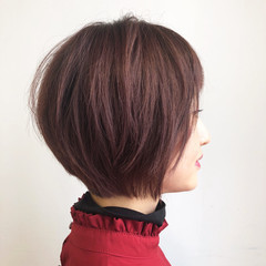 春 ベージュ ピンク ダブルカラー ヘアスタイルや髪型の写真・画像
