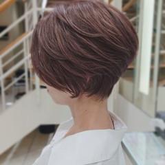 ミニボブ フェミニン ベリーショート ショート ヘアスタイルや髪型の写真・画像